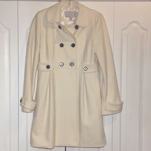 OLD NAVY Winter White Wool Blend Coat, Small